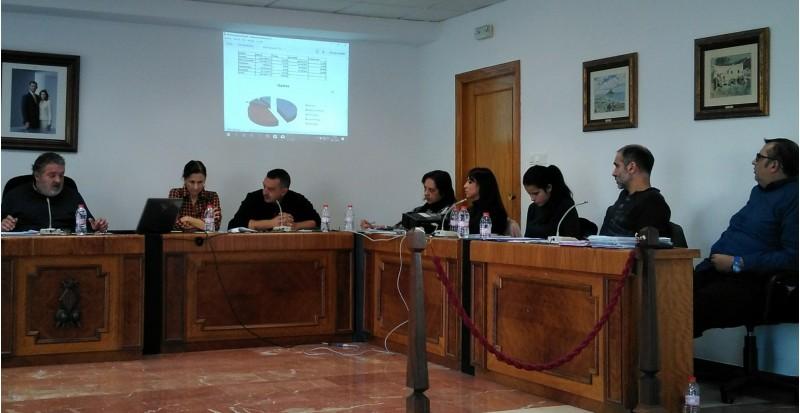 Sessió d'aprovació del pressupost municipal en l'Ajuntament de Muro.