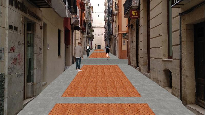 Simulació de com quedarà el carrer Sant Francesc després de les obres.