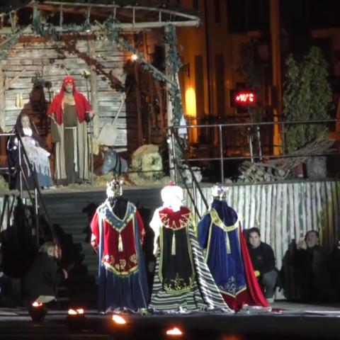Moment de l'Adoració en la Plaça d'Espanya.