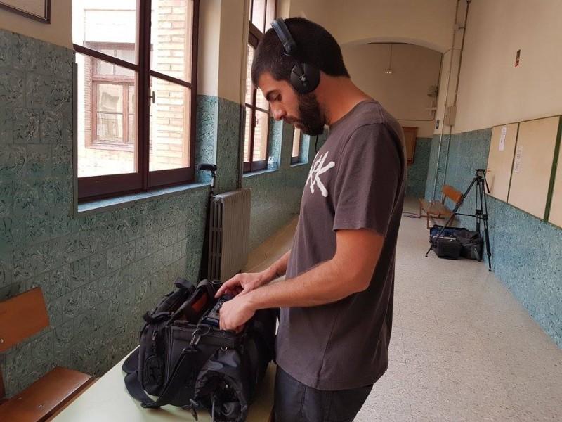 Adrià Sempere durant el rodatge d'Atrevimiento