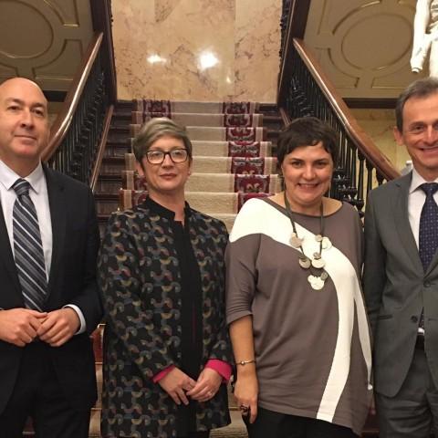 Patricia Blanquer (centre dreta) junt a la resta de diputats socialistes per Alacant.