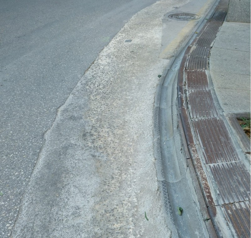 Traçat d'un dels carrers a la Zona Alta.