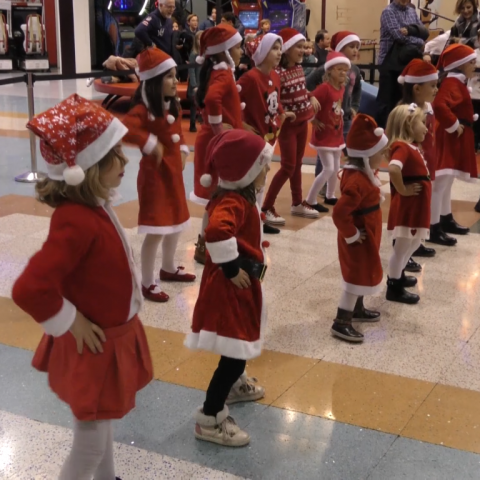 El centre comercial Alzamora dona la benvinguda al Nadal amb un 'flashmob'