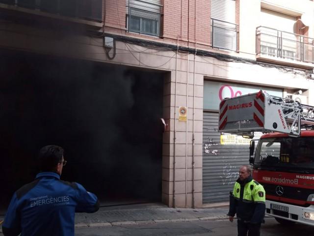 Accés al garatge / Facebook Policia Local