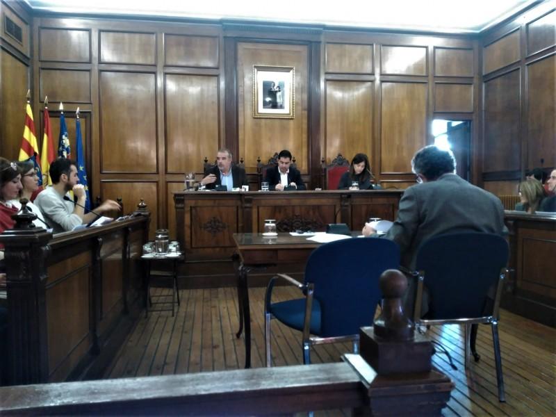 Plenari del 9 de desembre, on es va aprovar la proposta de Cs Alcoi.