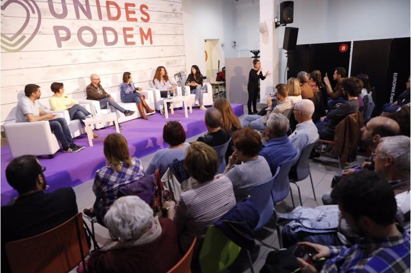 Acte de campanya d'Unides Podem per a les eleccions autonòmiques de 2019 en la sala Àgora.