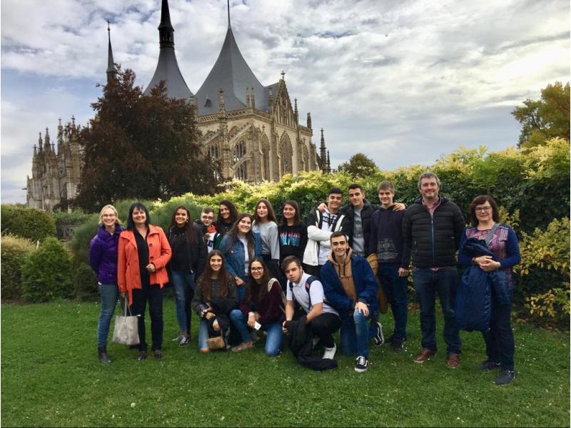 Alumnes i professors de l'IES Andreu Sempere en la Republicà Txeca / IES Andreu Sempere