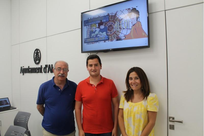Pedro Juan Parra, Jordi Ortiz i Lorena Zamorano / Ajuntament d'Alcoi