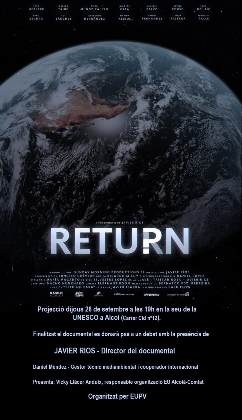 Cartell projecció 'Return' / EUPV
