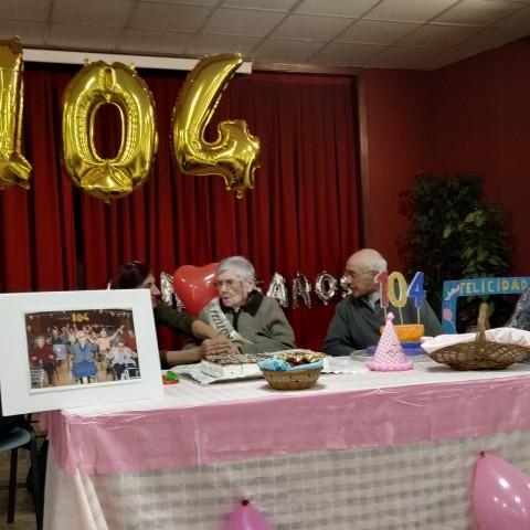 Catalina celebra el seu 104 aniversari