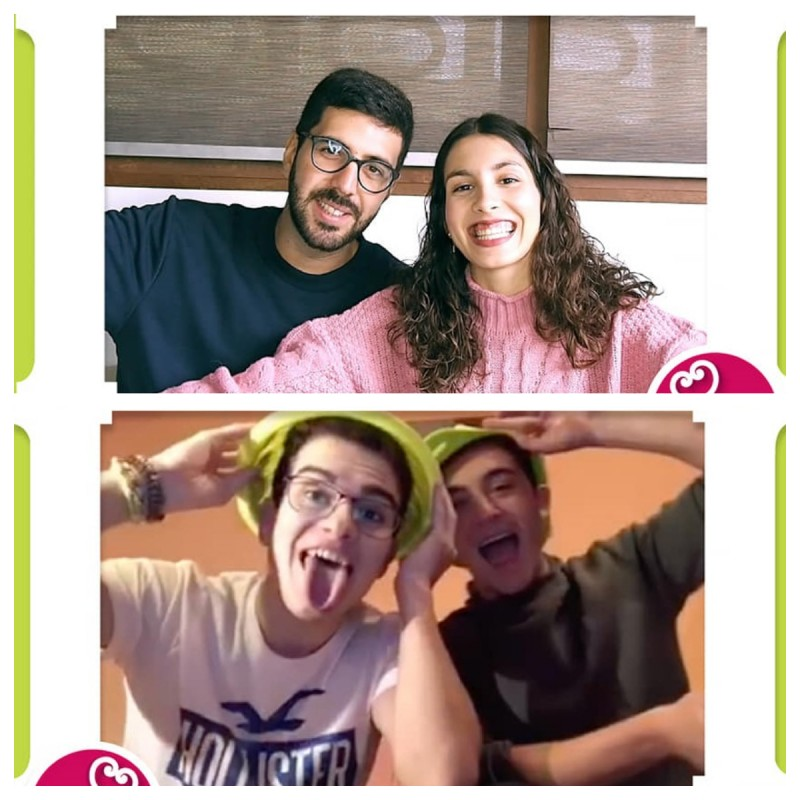 Xavier i Nuria (dalt) i José i Eduardo (baix)