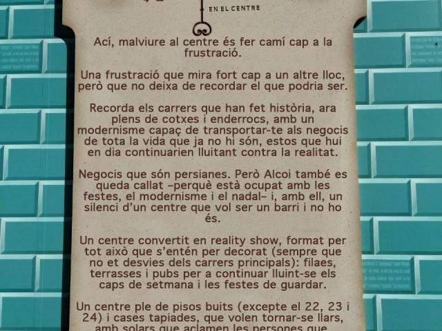 Manifest del col·lectiu Malviure al centre