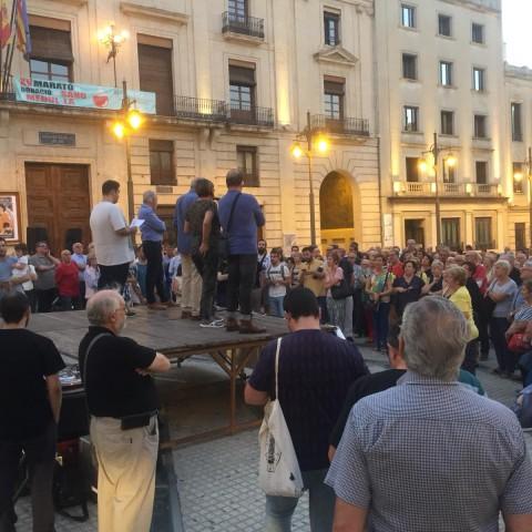 Concentració a la Plaça Espanya / AM