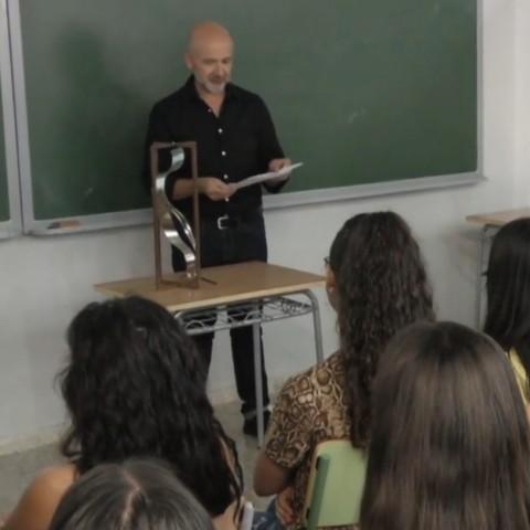 Rafael Amorós és el nou artista resident a l'IES Andreu Sempere