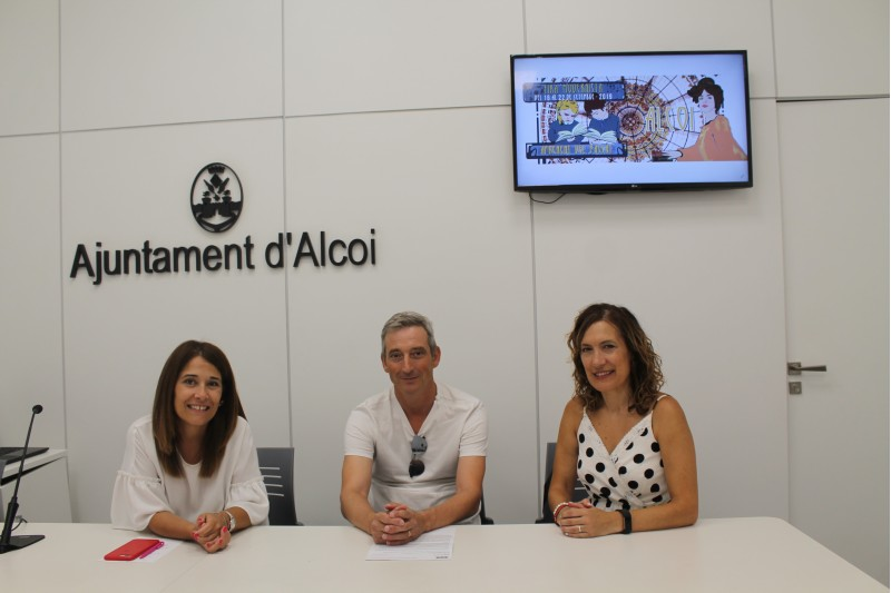 Lorena Zamorano, Edu Tormo i Virginia Boulofer / Ajuntament d'Alcoi