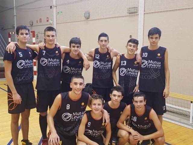 Equip cadet masculí Nou Bàsquet Alcoi. Imatge via Club Nou Bàsquet Alcoi