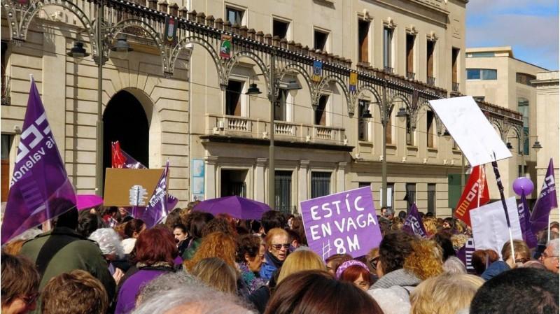 Manifestació feminista celebrada en Alcoi