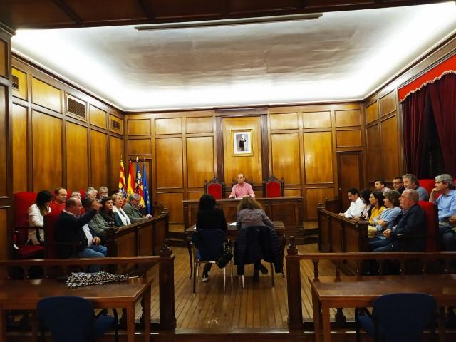 Plenari de la Mancomunitat de l'Alcoià-Comtat, celebrat aquest dilluns 21 d'octubre.