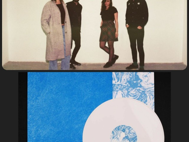 (Dalt i a la dreta) Toni Blanes amb el seu grup Nomembers. (Baix) el disseny de l'agència Snoop per al disc.