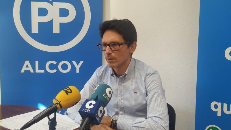 El portaveu popular Quique Ruiz. Imatge d'arxiu