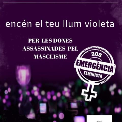 Les comarques convocades a una nit violeta