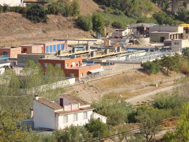 La depuradora dels Algars, imatge facilitada per l'Ajuntament de Cocentaina