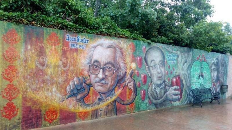 Murals ubicats al Batà de Muro.