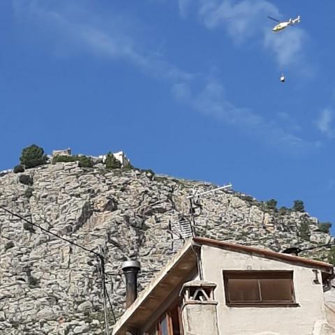 S'inicia la reconstrucció pedra a pedra la torre del Castell de Cocentaina