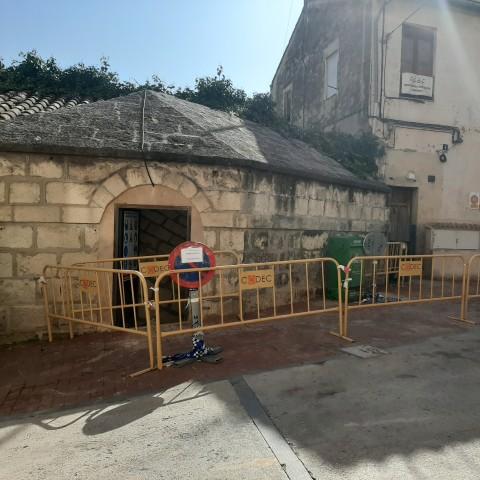 Inici de les obres al refugi antiaeri del Palau Comtal / Ajuntament de Cocentaina