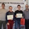 Josep Tormo i Iván Gilabert (centre), guanyadors del primer premi.