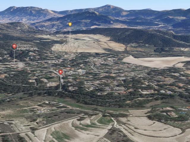 Imatge del Google Maps de la zona d'urbanitzacions a l'oest d'Alcoi