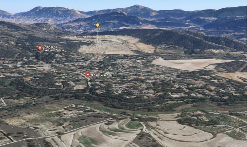 El Baradello, imatge de google maps