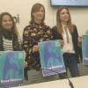 D'esquerra a dretaRuthTomás, tècnica d'igualtat; la regidoraAroaMira; la directora general de l'Institut de la Dona, MariaSuch; iAsúnNavarro, del col·lectiu 8 de març.