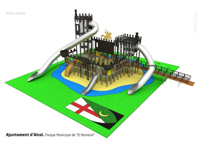 Model per ordinador del castell de jocs