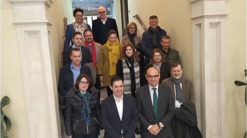 El Consell de Direcció de la UA, al campus d'Alcoi