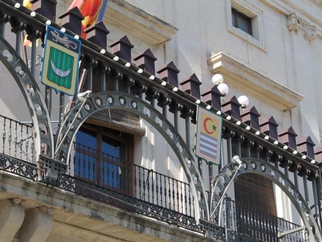 Imatge de l'enramada a la plaça d'Espanya.