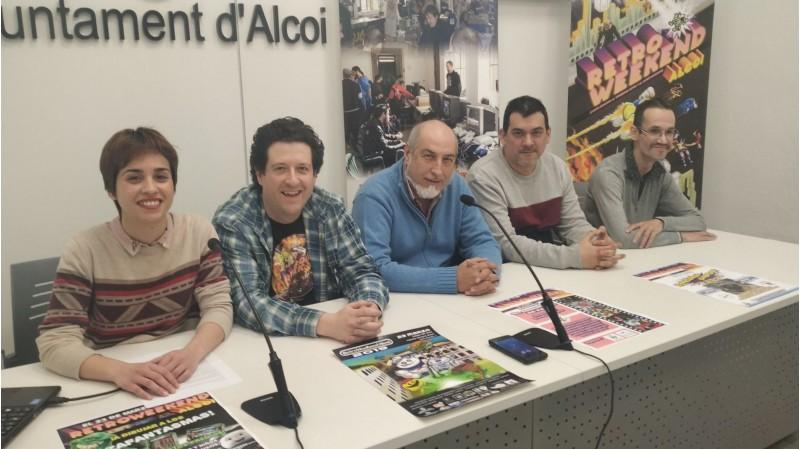 Presentació del Retroweekend a l'Ajuntament d'Alcoi