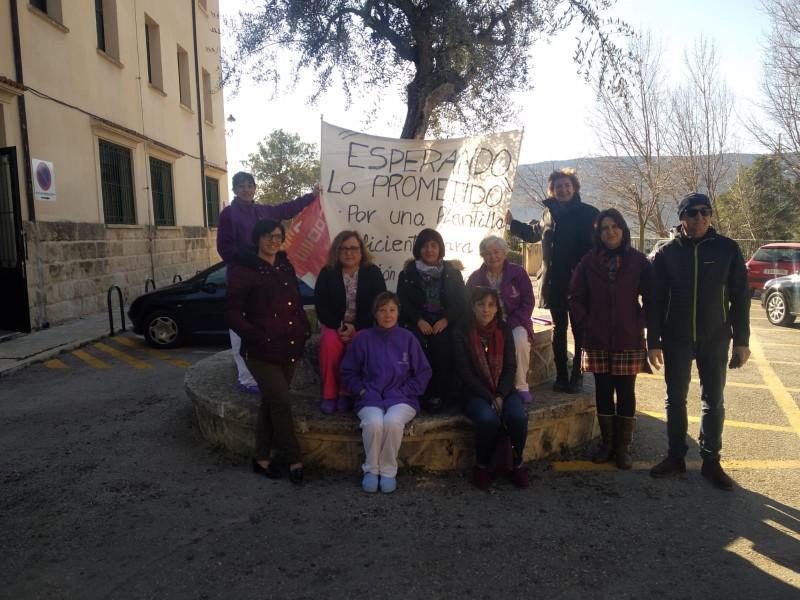 Una concentració d'aquest mes, amb la presència de Rosa Pérez Garijo, coordinadora d'Esquerra Unida del País Valencià