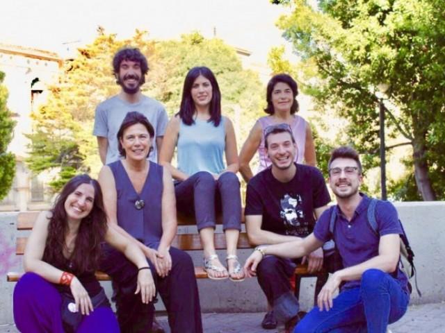 Executiva de Podem Alcoi, amb les candidates Naiara Davó i Carmina Reig entre les seues files.