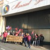Jornada de vaga a les portes de Magosa el passat 17 gener