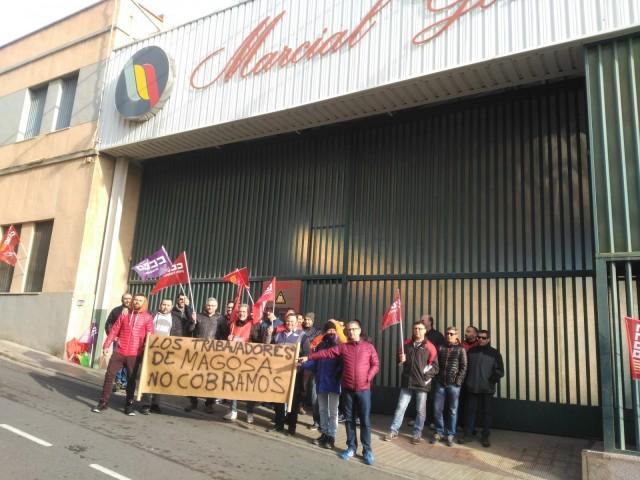 Els treballadors de l'empresa Magosa denuncien l'impagament dels salaris