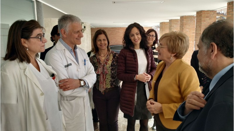 Un moment de la visita al centre de salut de Cocentaina