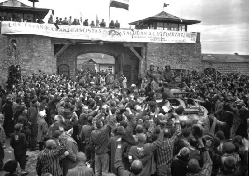 Alliberament de Mauthausen, maig de 1945. Fotografia de Cpl Donald R. Ornitz, US Army - [1], Dominio público, https://commons.wikimedia.org/w/index.php?curid=183551