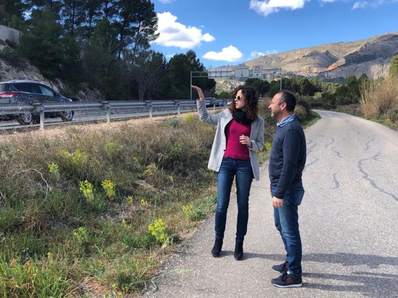 L'alcaldessa i el regidor d'Obres visiten l'emplaçament de les futures obres