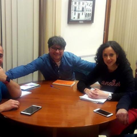 Reunió entre l'Ajuntament i el CD Contestano