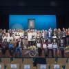 Foto de família amb tots els premiats en l'acte institucional del 6 de gener a Ibi