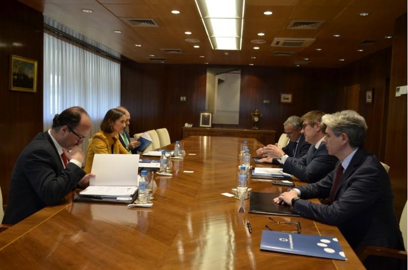 Una imatge de la reunió a Madrid