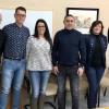 Els cinc membres de la nova junta gestora amb el coordinador d'Organització de les comarques deAlacantíiÁlcoià.