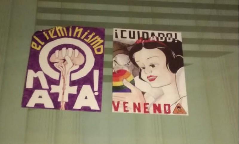 Alguns dels cartells apareguts a Villena / Ponts d'Igualtat
