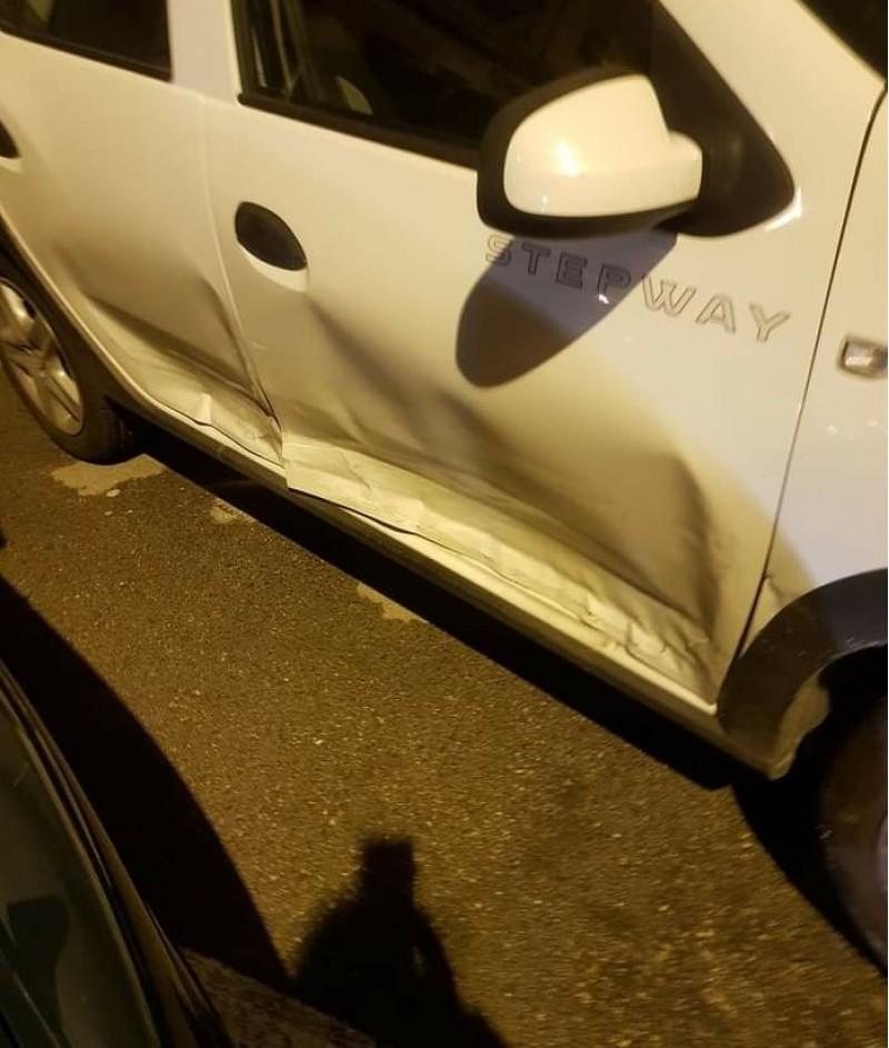 Un dels cotxes estavellats, Imatge facilitada per l'Ajuntament.